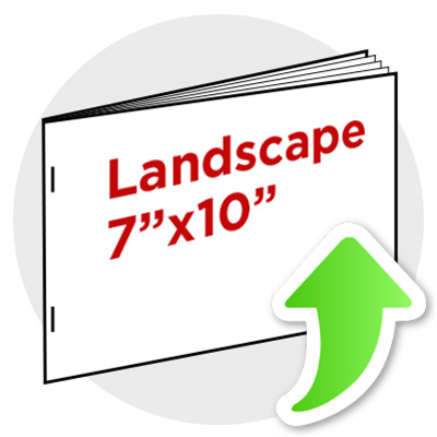 "7""x10"" Landscape Booklet Staple"