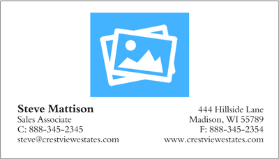 Build Your Own Business Card w/Logo
