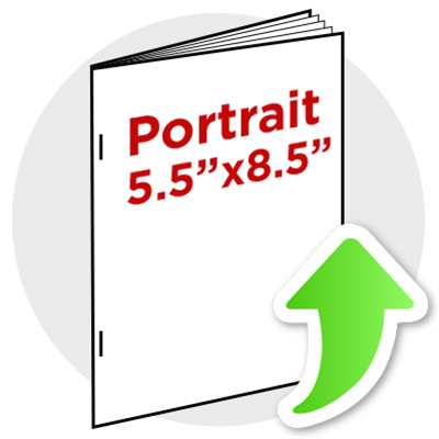 "5.5""x8.5"" Portrait Booklet Staple"