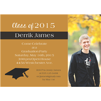 Simple Statement Grad Invite