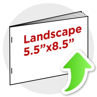 "5.5""x8.5"" Landscape Booklet Staple"