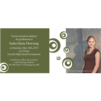 Green Swirls Grad Invite