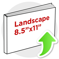 "8.5""x11"" Landscape Perfect Bind"