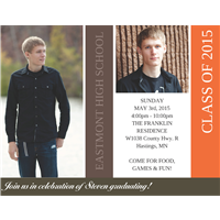 Orange Blocks Grad Invite